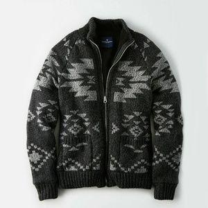 NEW American Eagle Mens  jacket Sherpa Wool Blend